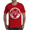 Heavy Metal Throwing Horns Mens T-Shirt
