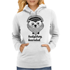 Hedgehog Bearded Womens Hoodie