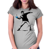 Heisenberg Banksy Womens Fitted T-Shirt
