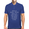 Hello 7 Languages Hola Bonjour Ni Hao Chinese French Italian Mens Polo