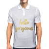 Hello Gorgeous Faux Gold Foil Mens Polo
