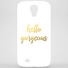 Hello Gorgeous Faux Gold Foil Phone Case