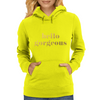 Hello Gorgeous Faux Gold Foil V2 Womens Hoodie