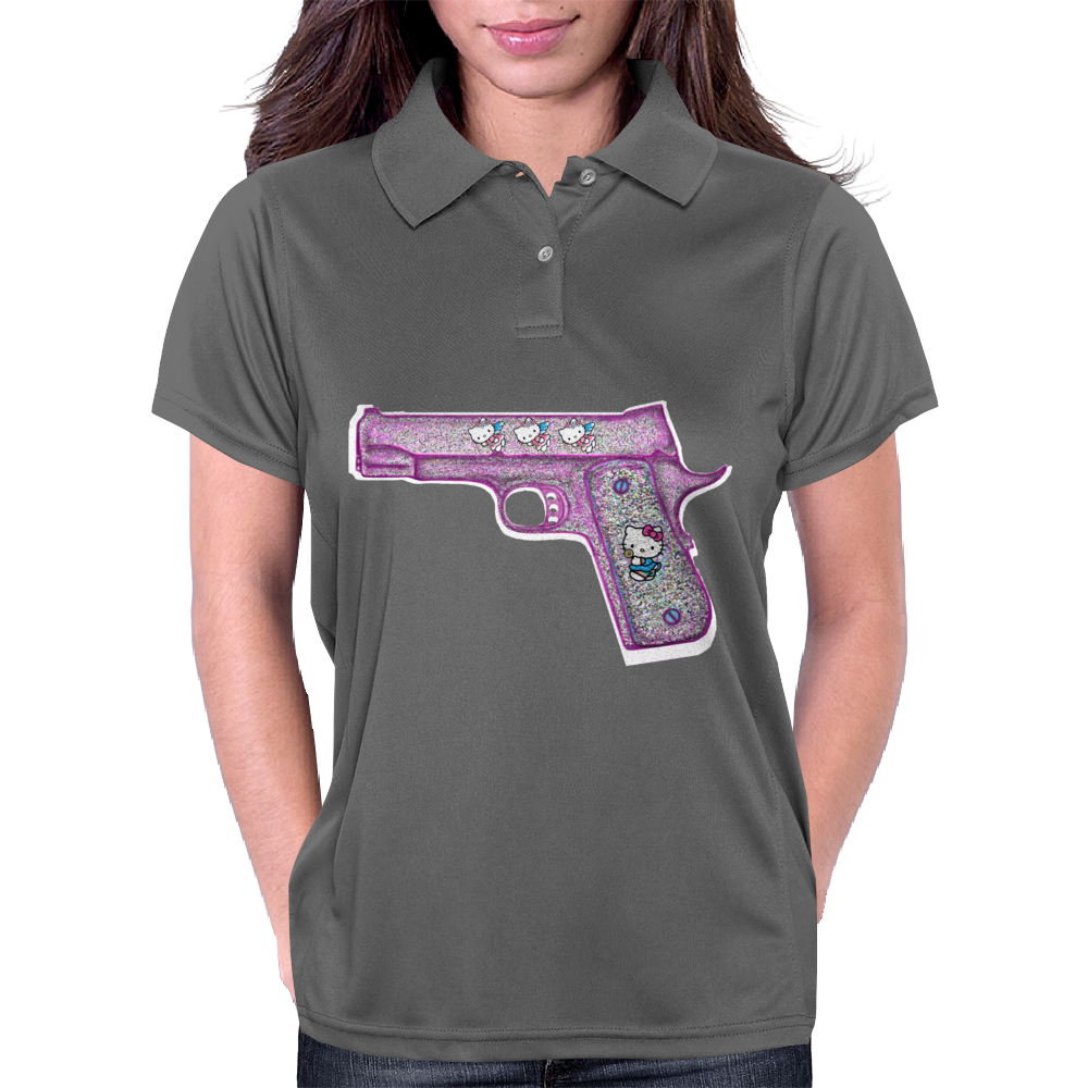 Hello Kitty Gun   Womens Polo