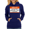 Hello My Name Is The Guy Who Hates Halloween Costumes Womens Hoodie