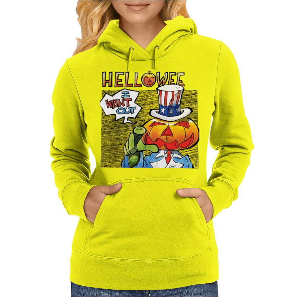 Helloween I Want Out Womens Hoodie