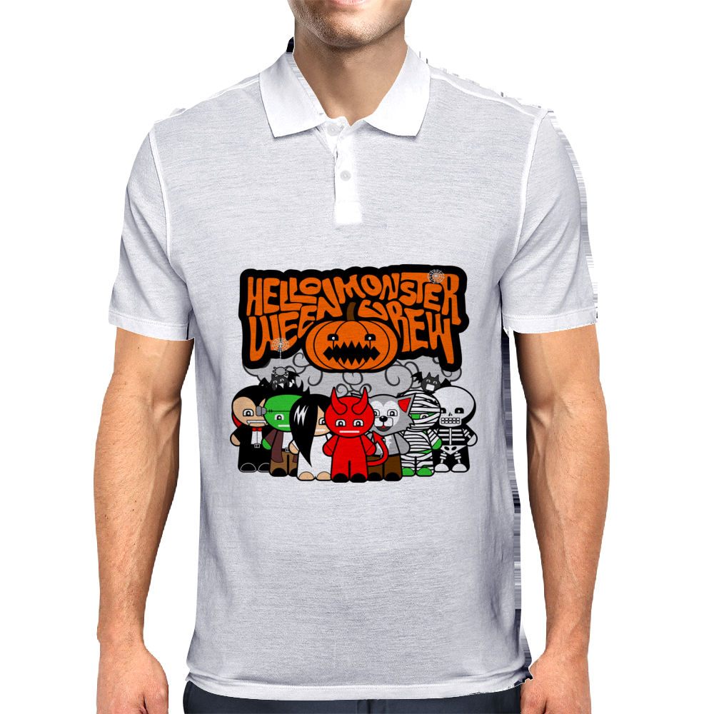 HELLOWEEN MONSTER CREW Mens Polo