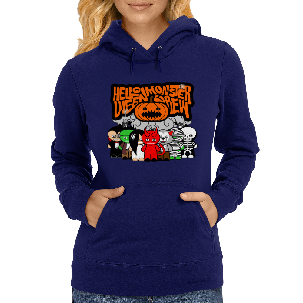 HELLOWEEN MONSTER CREW Womens Hoodie