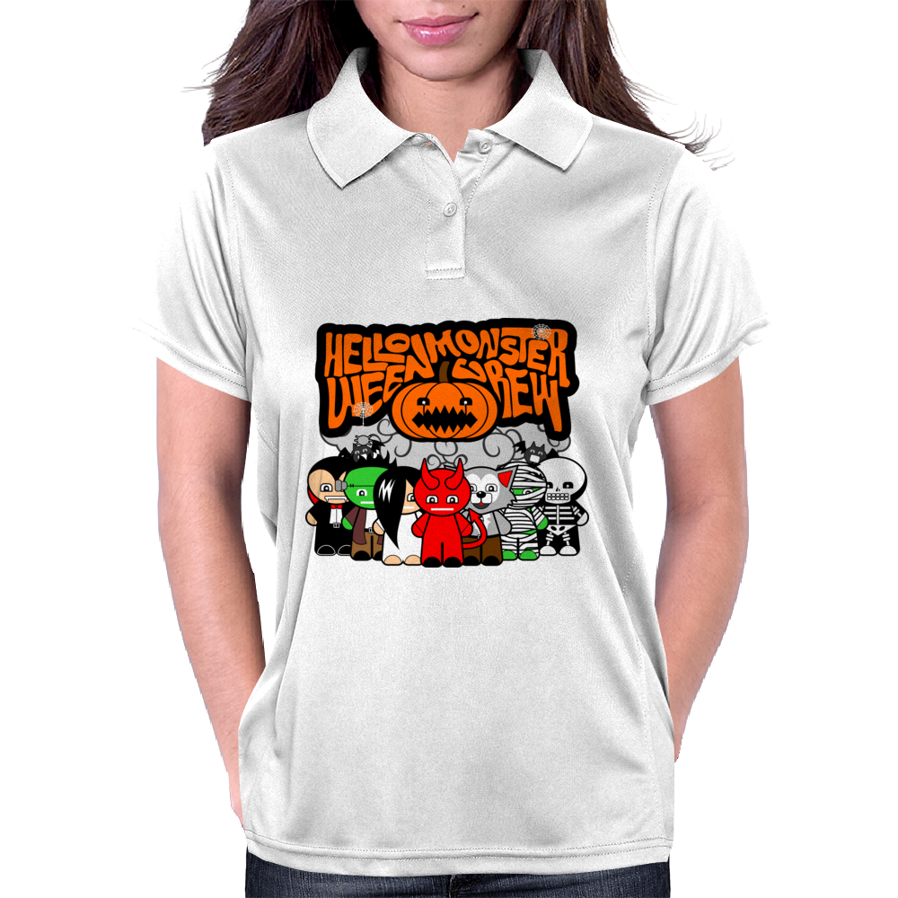 HELLOWEEN MONSTER CREW Womens Polo