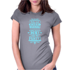 help end global warming add more ice enjoy the party (light blue) Womens Fitted T-Shirt