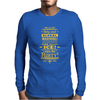 help end global warming add more ice enjoy the party (yellow) Mens Long Sleeve T-Shirt