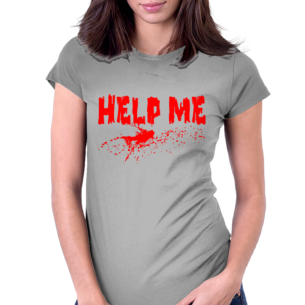 Help me Womens Fitted T-Shirt