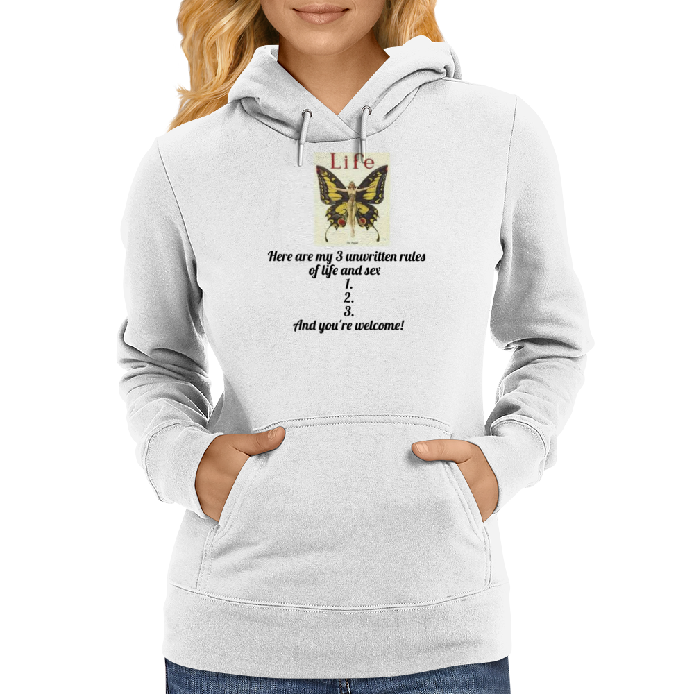 Here are my # Unwritten Rules 1.2,3, And you're welcome Womens Hoodie