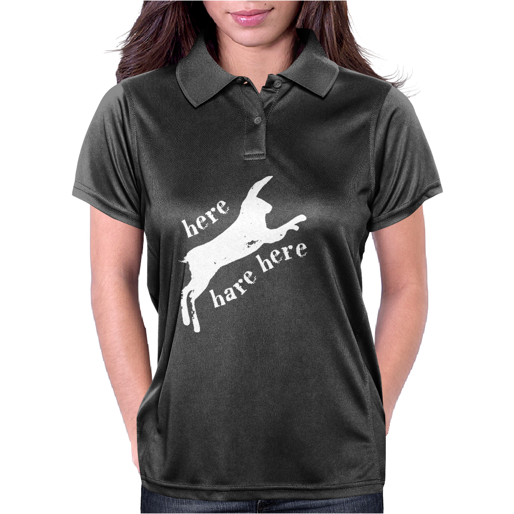 Here Hare Here Monty Python Womens Polo