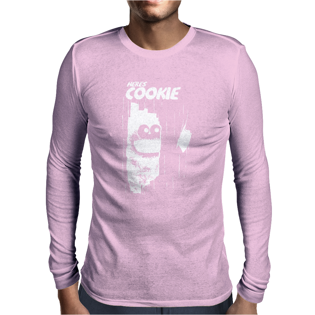 here's Johnny Cookie Mens Long Sleeve T-Shirt