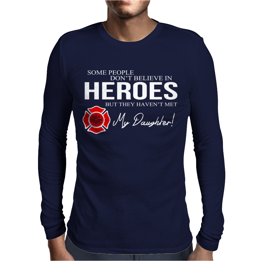 Hero Daughter - Firefighter Mens Long Sleeve T-Shirt