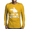 He's Mine cartoon hands Mens Long Sleeve T-Shirt