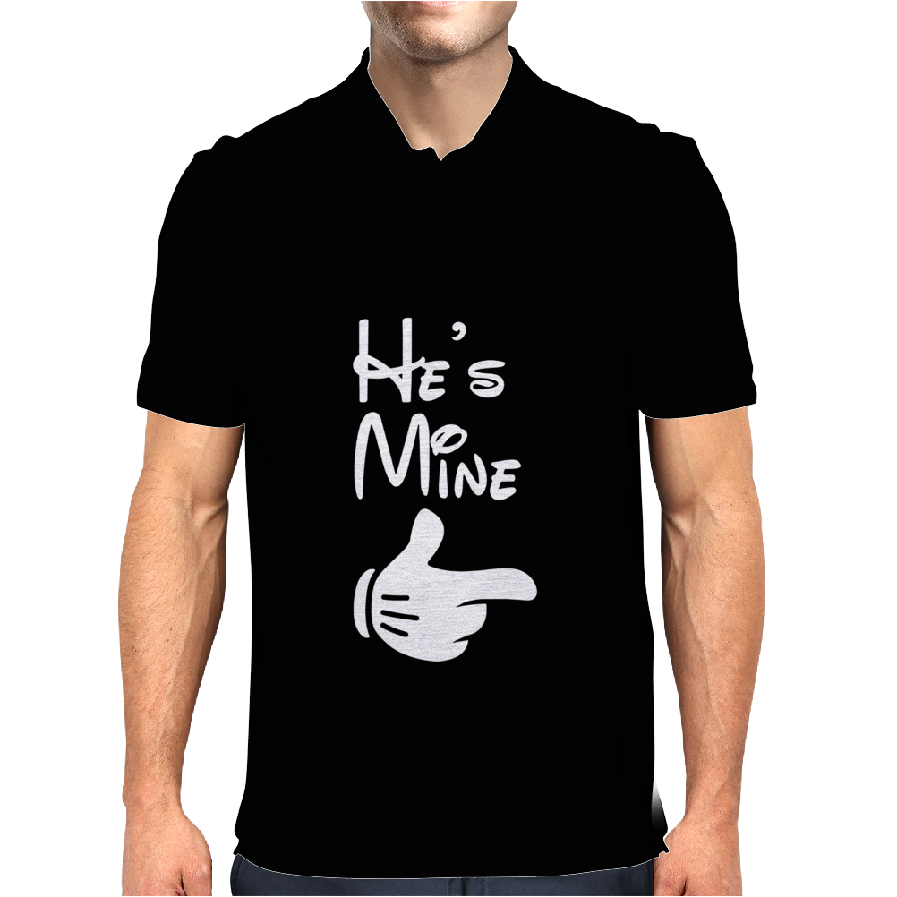 He's Mine She's Mine Mens Polo