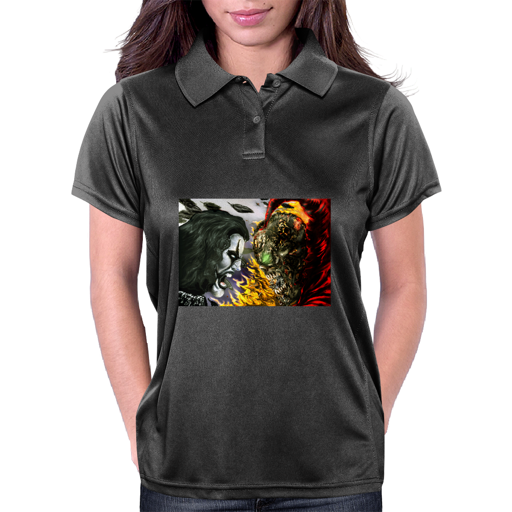 heven vs hell the crow vs spawn Womens Polo