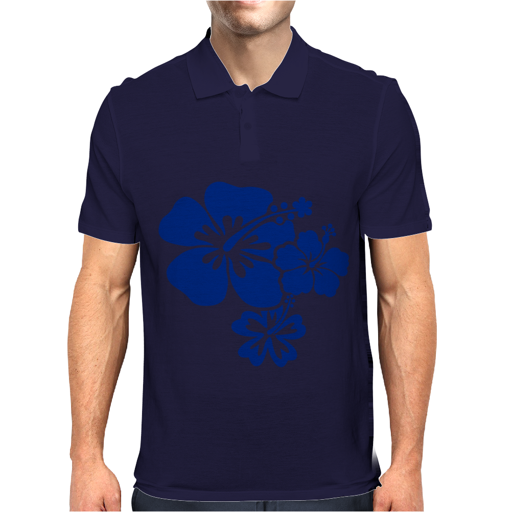Hibiscus Flowers Mens Polo
