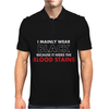 HIDES THE BLOOD STAINS Mens Polo