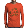 High Contast Forest & Recycle Symbol Mens Long Sleeve T-Shirt