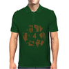 High Contast Forest & Recycle Symbol Mens Polo