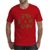 High Contast Forest & Recycle Symbol Mens T-Shirt