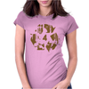 High Contast Forest & Recycle Symbol Womens Fitted T-Shirt