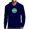HIGH TYPO! Cannabis / Hemp / 420 / Marijuana  - Pattern Mens Hoodie