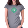 HIGH TYPO! Cannabis / Hemp / 420 / Marijuana  - Pattern Womens Fitted T-Shirt