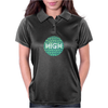 HIGH TYPO! Cannabis / Hemp / 420 / Marijuana  - Pattern Womens Polo