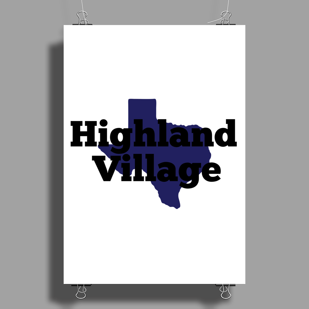 Highland Village Texas Poster Print (Portrait)