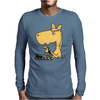 Hilarious Horse Playing Chess Mens Long Sleeve T-Shirt