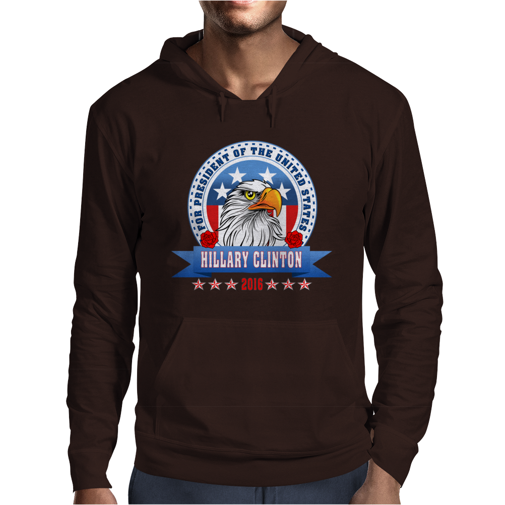 Hillary Clinton for president 2016 Eagle Head 3 Mens Hoodie