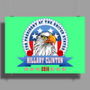 Hillary Clinton for president 2016 Eagle Head 3 Poster Print (Landscape)