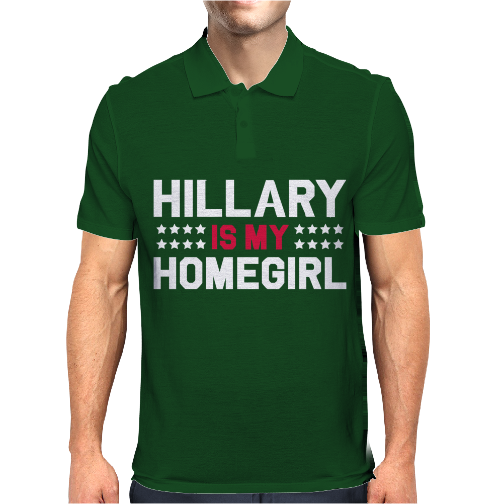 Hillary Is My Homegirl Funny Mens Polo