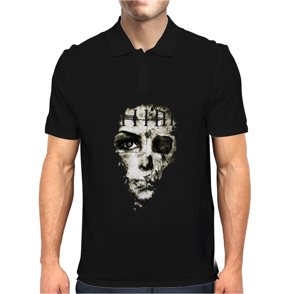 H.I.M. Skull Face Mens Polo