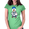 Hip Hop Rapper Snowman Womens Fitted T-Shirt