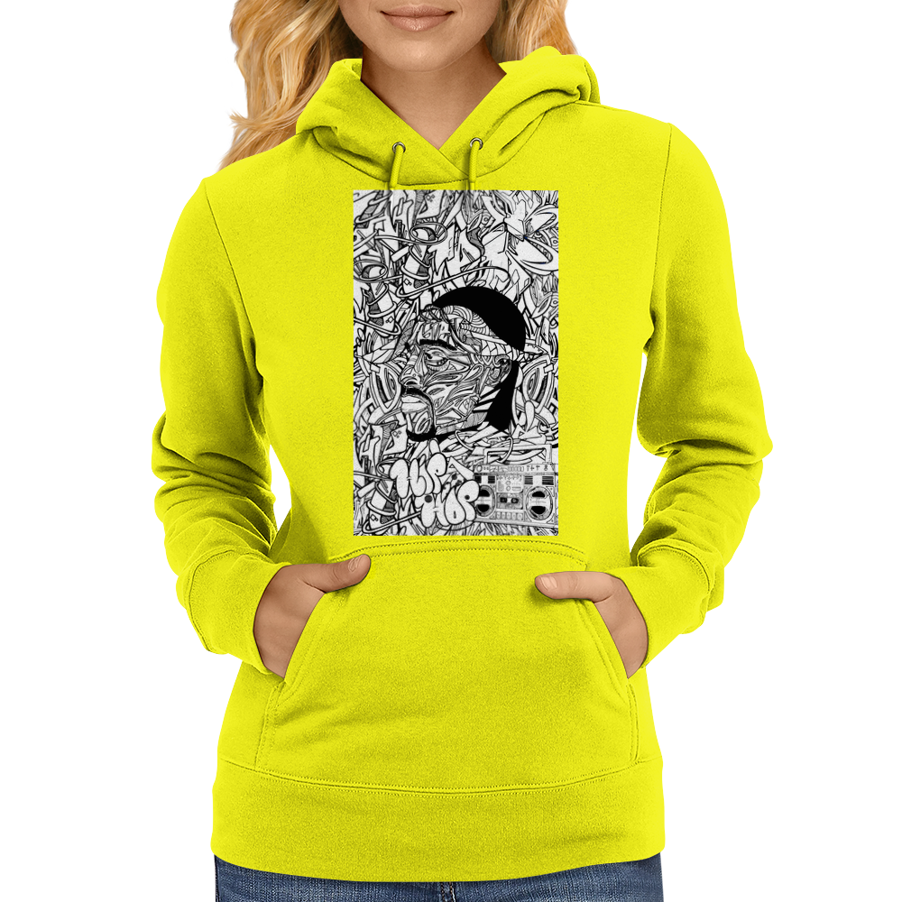 Hiphop-dimension Womens Hoodie