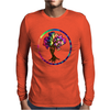 Hippie Peace Tree in Psychedelic Circle Mens Long Sleeve T-Shirt