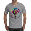 Hippie Peace Tree in Psychedelic Circle Mens T-Shirt