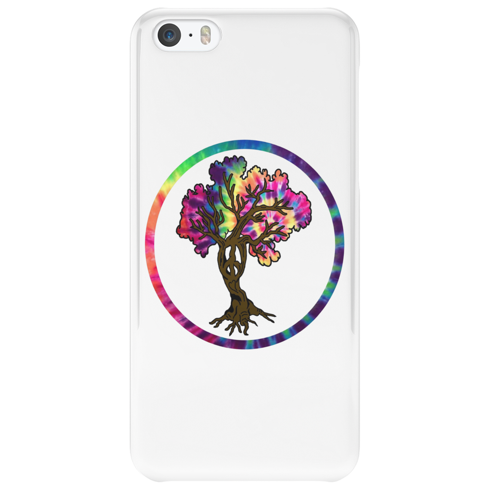 Hippie Peace Tree in Psychedelic Circle Phone Case