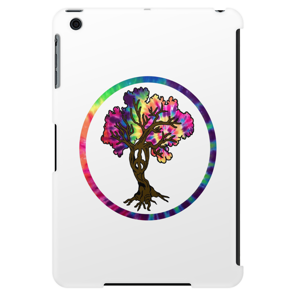 Hippie Peace Tree in Psychedelic Circle Tablet
