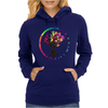 Hippie Peace Tree in Psychedelic Circle Womens Hoodie