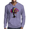 Hippie Peace Tree Mens Hoodie