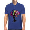 Hippie Peace Tree Mens Polo