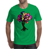 Hippie Peace Tree Mens T-Shirt