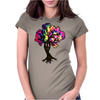 Hippie Peace Tree Womens Fitted T-Shirt