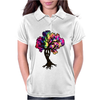 Hippie Peace Tree Womens Polo
